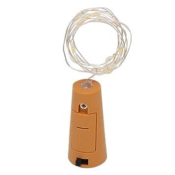 BEETEST Corcho Luces Botella Luces de Hadas 2 m 20 LED Cork botella de vino en