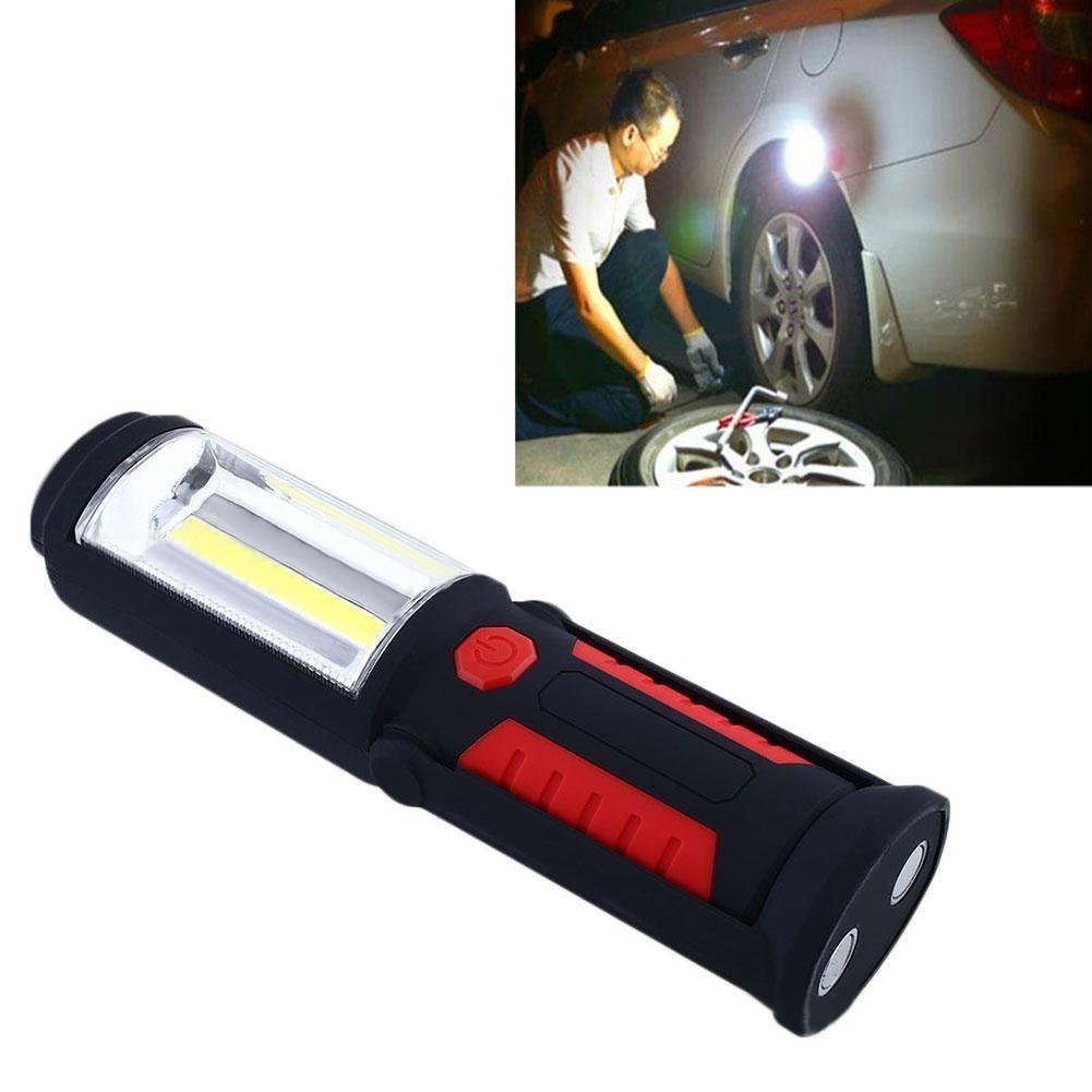 Zhuoman New Portable USB Rechargeable COB LED Flashlight Torch Work Light lanterna Magnetic Stand Hanging Lamp For Outdoor Camping by Zhuoman (Image #3)