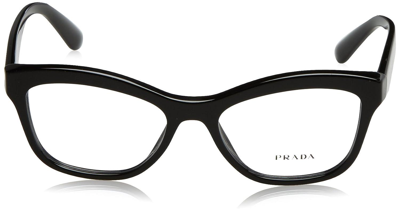 aab32a00fc4 Prada PR29RV Eyeglass Frames 1AB1O1-54 - Black PR29RV-1AB1O1-54 at Amazon  Women s Clothing store