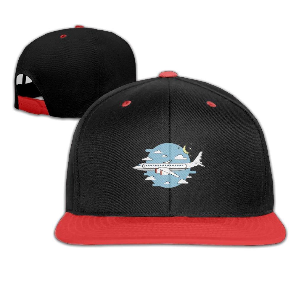 Humaoe Airplane Flight Cartoon Fashion Peaked Baseball Caps//Hats Hip Hop Cap Hat Adjustable Snapback Hats Caps for Unisex