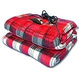 Zone Tech Car Travel Blanket –Premium Quality 12V Automotive Red Plaid Polar Fleece Material Comfortable Seat Blanket Great f
