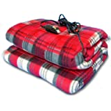 Zone Tech Car Travel Blanket –Premium Quality 12V Automotive Red Plaid Polar Fleece Material Comfortable Seat Blanket…