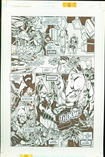Superboy the Ravers #17 Josh Hood Original Comic Art Page #11 DC Comics 1997