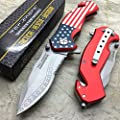 Tac Force G'Store Spring Assisted Open July 4th USA Flag Pocket Handy Knife