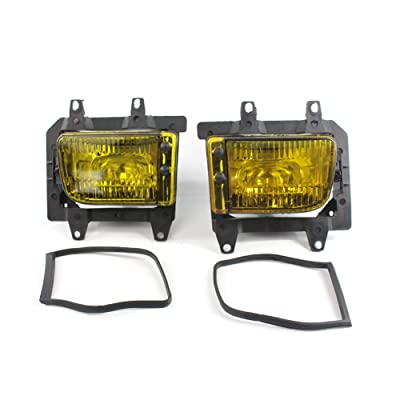 Fog Lights with Bulbs H11 Fog Lamps Assembly Replacement 63171385945 63171385946 for BMW E30 3 Series 1985-1993,1 Pair Crystal Yellow: Automotive