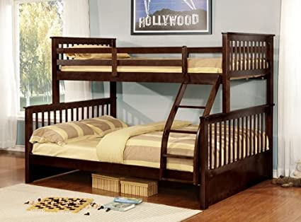 Bunk Bed Twin Over Double Detachable Espresso Amazon Ca Home