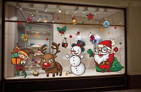 Umipubo Natale Vetrofanie Addobbi Natale Adesivi Statico