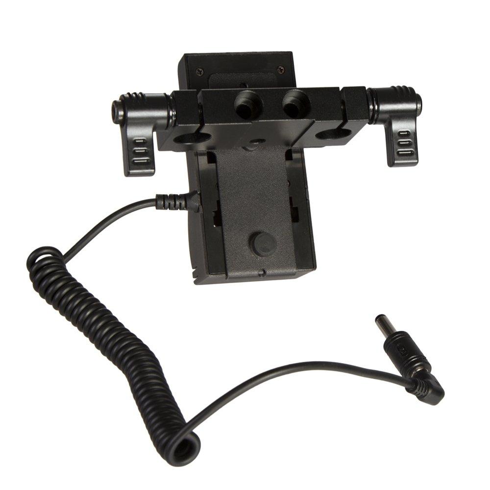 Ikan BMPCC-PWR-2RD-SU Blackmagic Pocket Cinema Camera Dual Rod DV Power Kit for Sony BP-U (Black) by Ikan (Image #2)