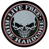 Hot Leathers, STENCIL SKULL, Live Free Ride