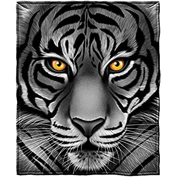 Amazon.com: TSlook 60x80 Blankets Funny White Tiger Animal