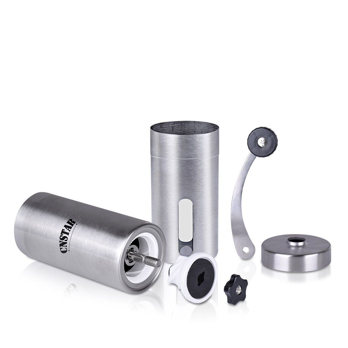 Hand Burr Manual Coffee Grinder for Precision Brewing Stainless Steel CNSTAR Coffee Bean Grinder Conical Burr Mill Hand Crank