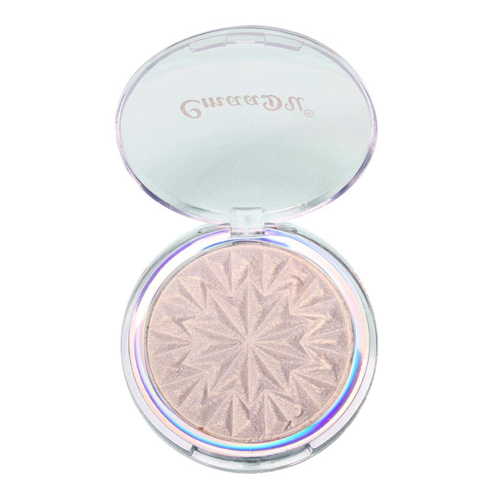 Sunday88 Highlighter Makeup Palette, Professional Enhanced Silhouette Contour Makeup Face Powder High-Gloss Gorgeous Luster Super Silky Texture Long Lasting Waterproof Face Glow