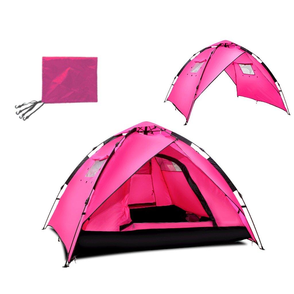 自動ポップアップテント3-4人キャンプテント のテント (色 : ローズレッド, サイズ さいず : Spring) Spring ローズレッド B07GK315L3