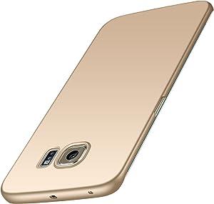 Anccer Funda para Samsung Galaxy S6 Edge [Serie Colorida] [Ultra-Delgado] [Ligera] Anti-rasguños Estuche para Case Samsung Galaxy S6 Edge (Oro Liso)