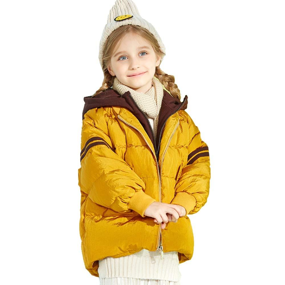 jaune 120cm YZ-HODC Le Manteau Court de Style Simple de Duvet de Canard de Filles vers Le Bas remplissant l'outwear, Manteau d'hiver léger des Enfants idéaux