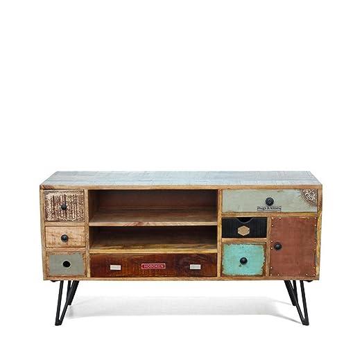 DRAWER Mueble TV Vintage Madera Fusion: Amazon.es: Hogar