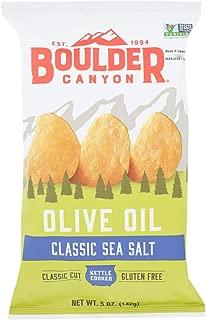 product image for Boulder Canyon Natural Foods Kettle Chips - Olive Oil - Case of 12 - 5 oz.