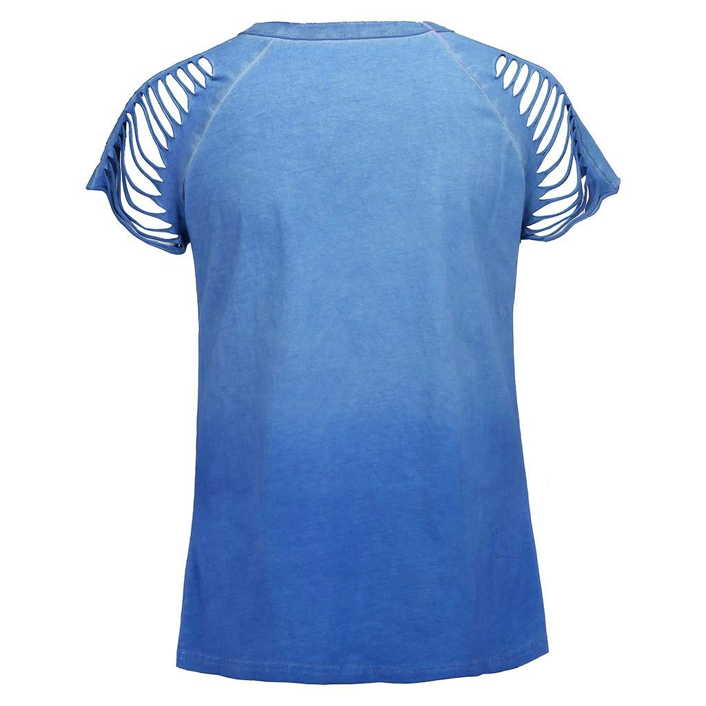 Transser Womens T-shirt Solid Hollowed Shoulder Crew Neck Short Sleeve Casual Tee Shirt Tops Blouse Big and Tall Plus Size S-5XL