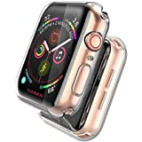 2 Pack 40mm Screen Protector Case Compatible with Apple Watch Series 6 5 4 Se, Hankn Full Coverage Bumper TPU Protective iWat