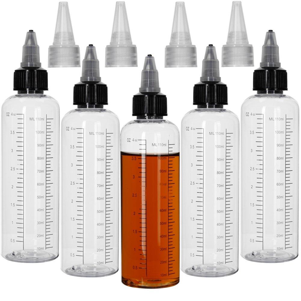 5pcs Soft PET Scaled Bottles Liquid Bottle Home Kitchen use Bottle (Transparent, 125ml) by HUIZHU