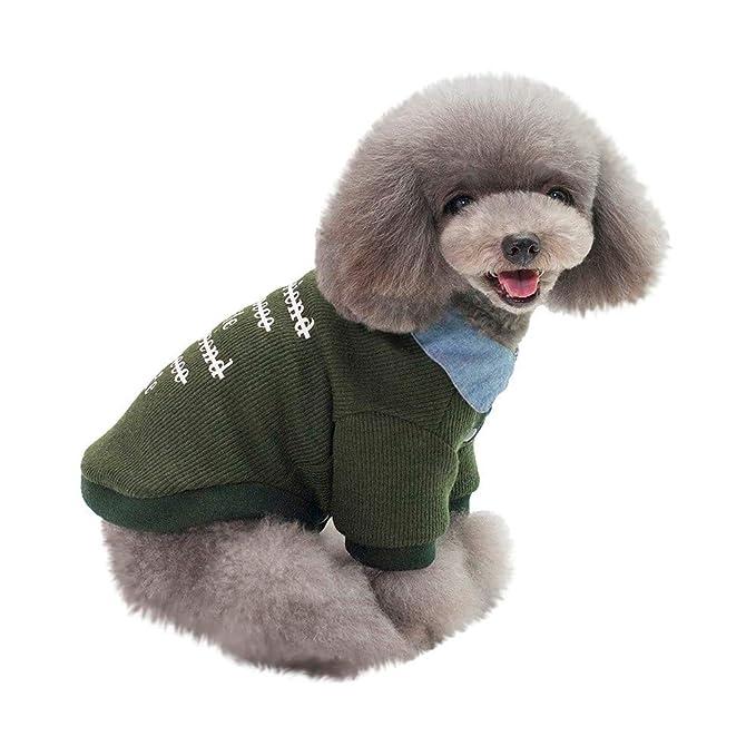 Ropa para Mascotas,Dragon868 Suave Engrosamiento Camisa Caliente Invierno suéteres de Punto pequeño Medio Mascotas Perros: Amazon.es: Ropa y accesorios