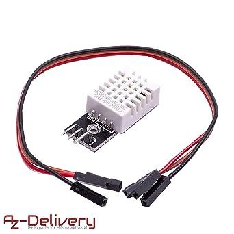 AZDelivery DHT 22 AM2302 Sensor de Temperatura y Humedad con Placa ...