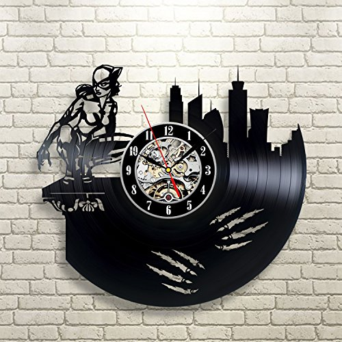 [Сat Woman Art Gift Vinyl Wall Modern Home Room Record Vintage Decoration] (Costume Catwoman Vinyl)