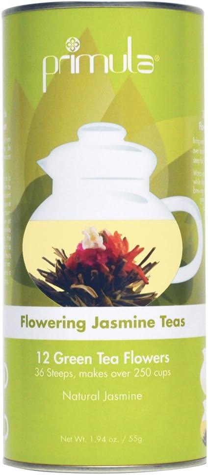 Primula Tea Flowers – 12-Pack – 36 Steeps, Makes 250 Cups – Green Tea Flowers with Natural Jasmine – Handpicked Ingredients