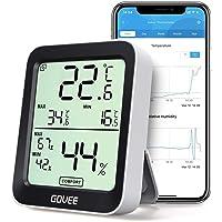 Govee Termómetro Higrómetro, LCD Bluetooth Medidor Digital Humedad y Temperatura Interior con Función Almacenamiento…