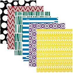 Mead 2 Pocket Folders, Folders with Pockets, Assorted Designs, 12 Pack (38226)