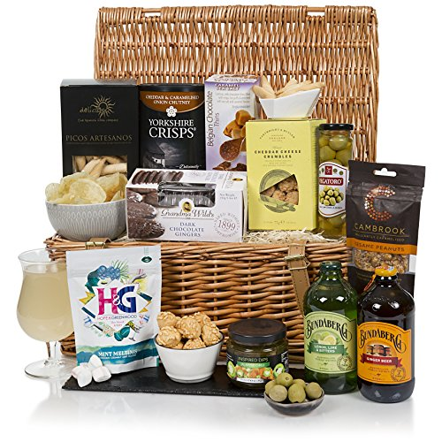 Luxury Alcohol Free Hamper - Traditional Food Hamper in Wicker Basket - Non Alcoholic Gift Baskets by Luxury