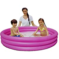 Play Day 51026 Alberca Piscina 3 Aros Inflable 1.65 m x 30 cm Color Rosa