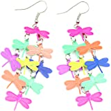Afco Women Dragonfly Hollow Dangle Hook Earrings,Fashion Christmas Jewelry Gift