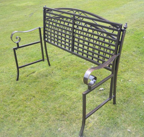 Superior Olive Grove Versailles Folding Metal Garden Bench In Antique Bronze Finish:  Amazon.co.uk: Garden U0026 Outdoors
