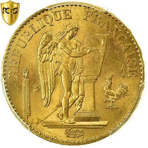 1875 A Génie 20 Francs PCGS MS64