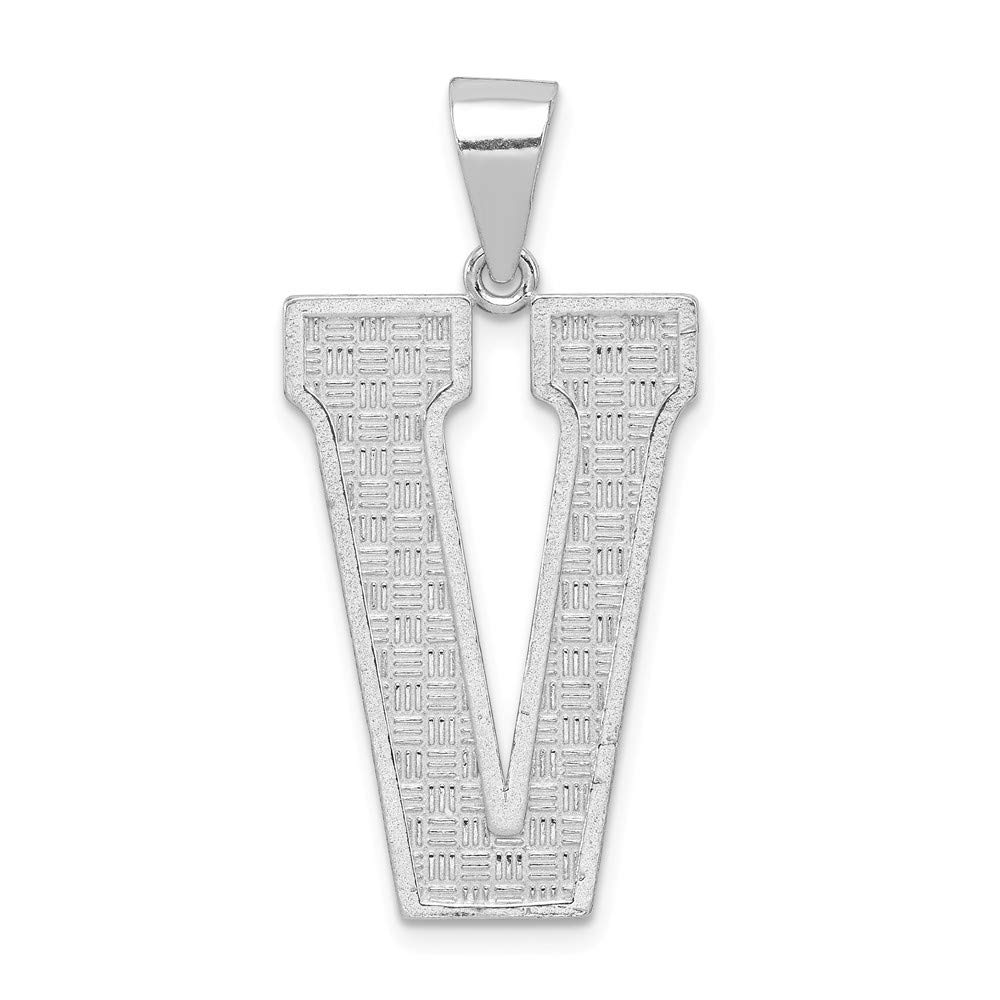 Mia Diamonds 925 Sterling Silver Solid initial V Charm