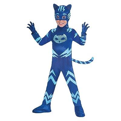 amscan traje PJ Mask Cat Boy Luxe (3 - 4 años), Multicolor, 7am9902964: Juguetes y juegos