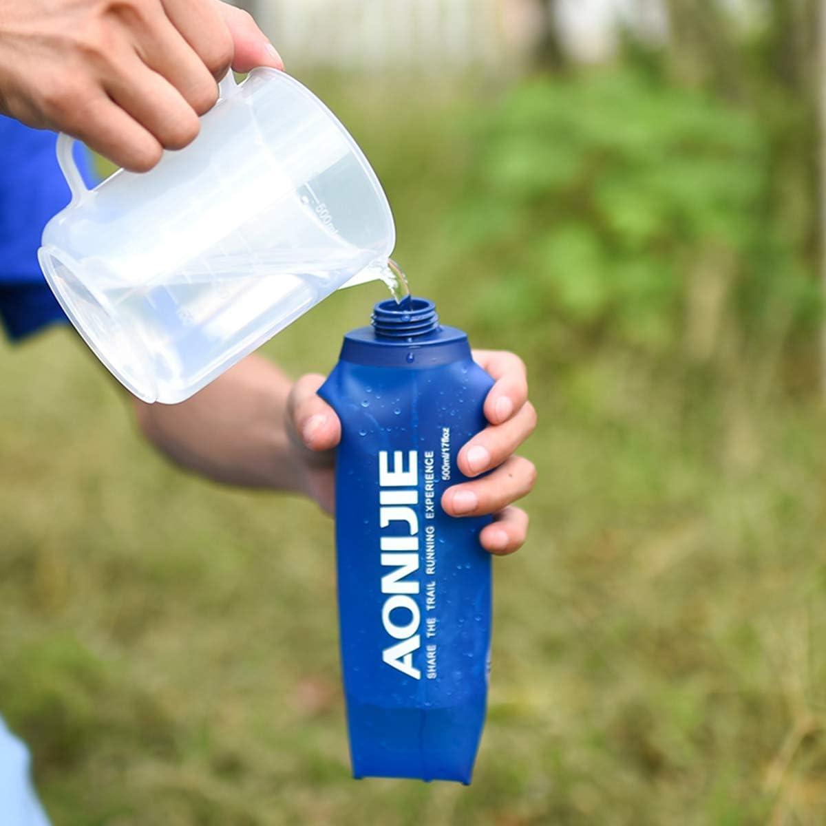 AONIJIE 250ml Folding Bottle, hiking, camping, outdoor, adventure, activity, portable, lightweight, bpa free, pvc free, Aonijie, Aonijie Malaysia, Aonijie Folding Bottle, Aonijie Hydration Bladder, Aonijie Running Foldable Water Bottle, bottle, sport bottle, squeeze bottle, water bottle malaysia, collapsible water bottle