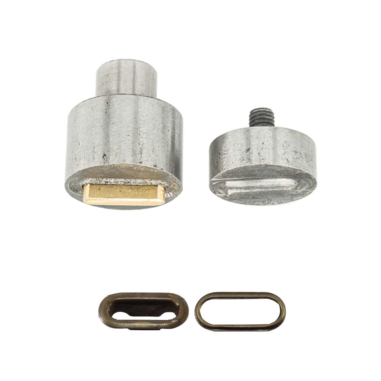 Weddecor - Troquel de remache acrílico de 8 mm para máquina de ...