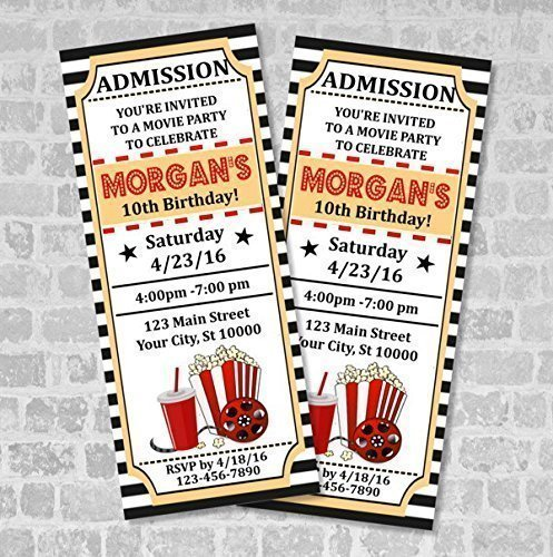 amazon com movie ticket invitations custom vintage movie tickets