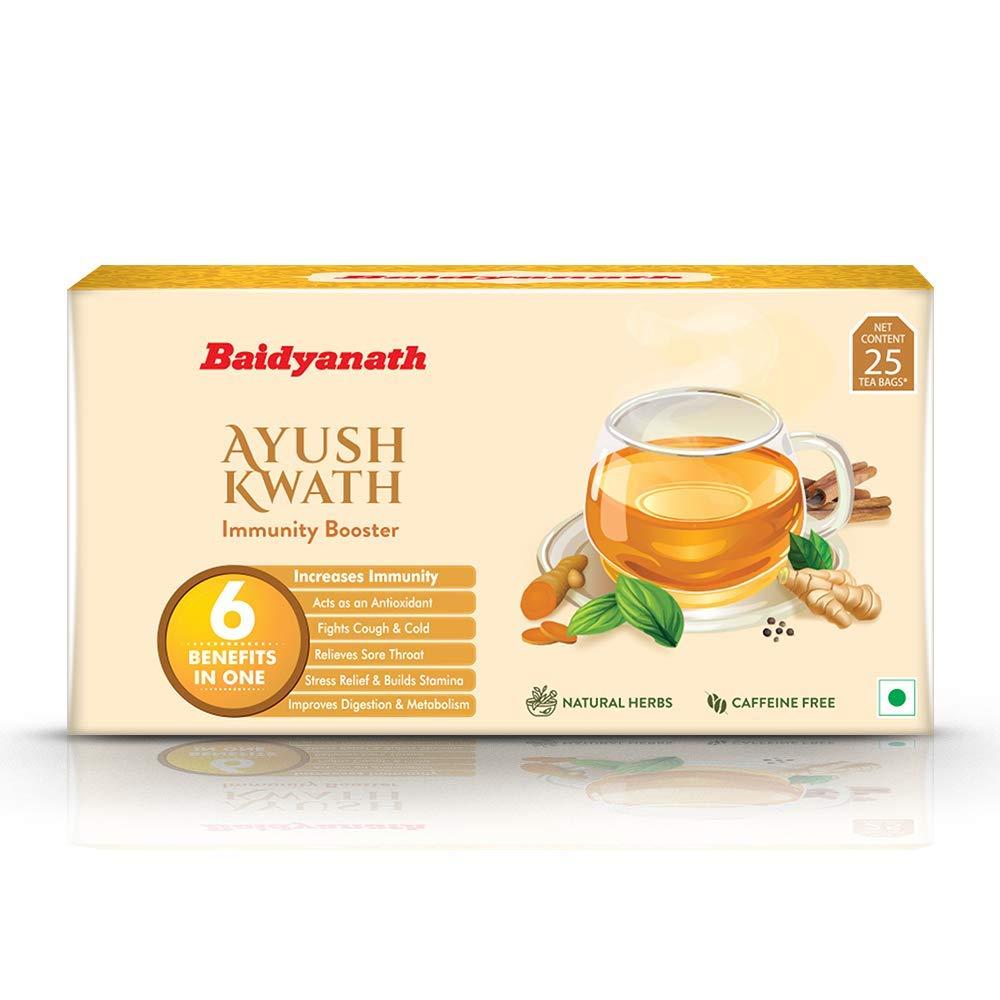 [Apply coupon] Baidyanath Ayush Kwath – Ayurvedic Immunity Booster – 25 Tea Bags