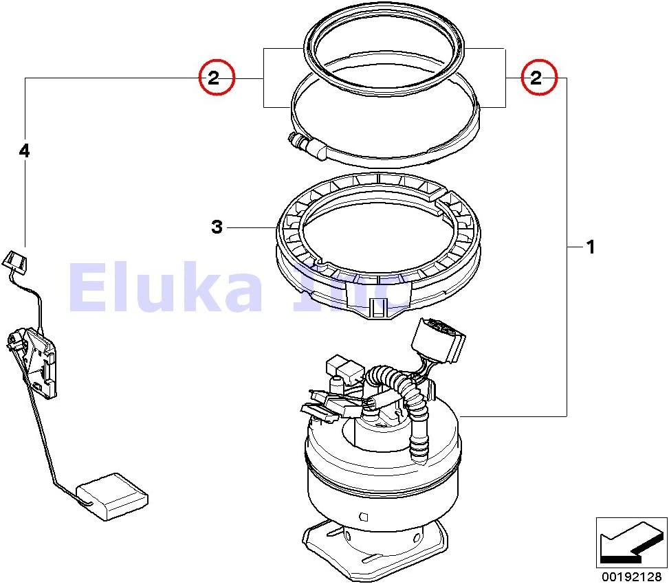 bmw fuel pump diagram amazon com bmw genuine seal with clamp for fuel pump right 128i  amazon com bmw genuine seal with clamp