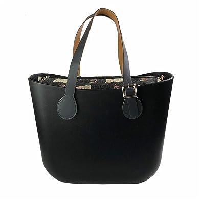d6efa43ea5 Mastojonster Classic Size O Bag Obag Style Waterproof Eva Body Women Handbag  Rubber Silicon Bag Black