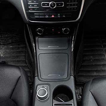 2pcs Carbon Fiber Chrome Center Console Decoration Strips Trim For Benz A//GLA//CLA Class W176 A180