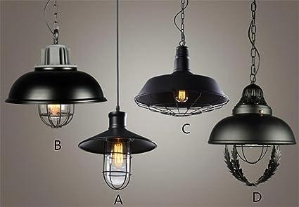 Plafoniere Vintage Prezzi : Lampada a sospensione industriale in rame verniciato nero opaco con