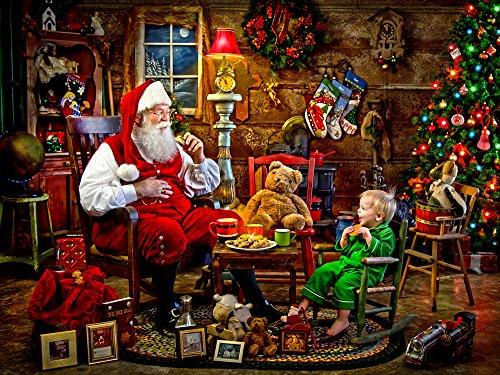Vermont Christmas Company Santa's Visit Jigsaw Puzzle 550 Piece