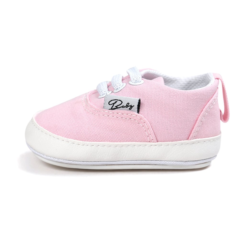 Jili Online Baby Soft Sole Shoes Sneakers Infant Walker Canvas Shoes for 0-18M Pink Yellow