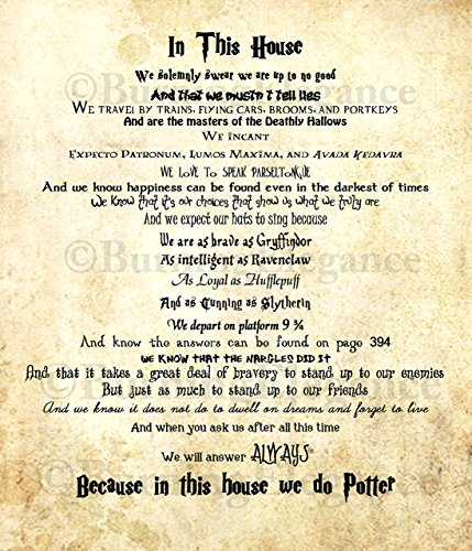 Harry Potter This House Print