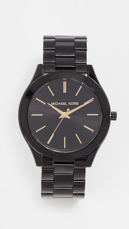 d7e5cf6860f7 Buy Michael Kors Women s Mini Slim Runway Black Watch MK3587 Online at Low  Prices in India - Amazon.in