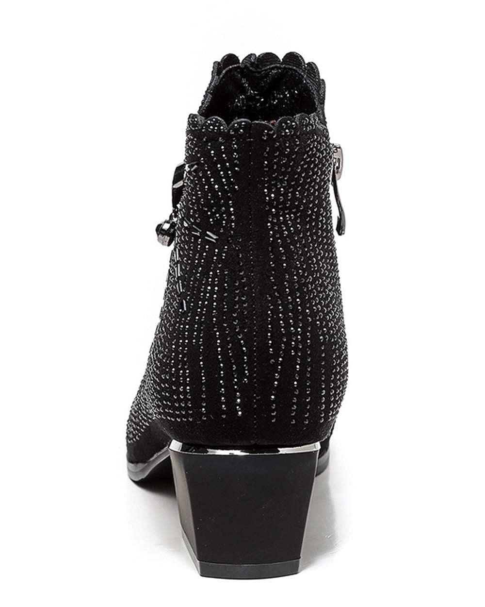 Shiney Frauen Stiefelies 2018 Wintermode New Kurze Chunky Heel High-Heels Einzelne Schuhe Kurze New Stiefel 4f6e5e